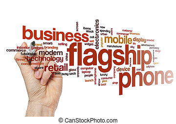 Flagship phone word cloud concept - Flagship phone word...