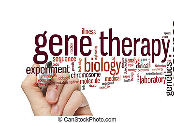 Gene therapy word cloud - Gene therapy concept word cloud...