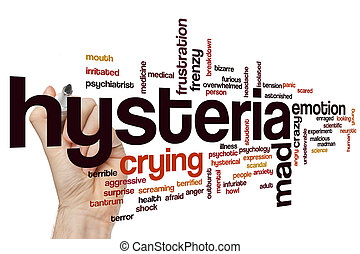Hysteria word cloud - Hysteria concept word cloud background