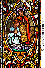 Stained Glass Window 2 - A biblical scene caught in stained...