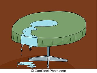 Water Spilled on Table
