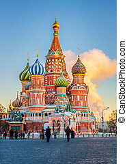 St. Basil's Cathedral in Moscow - View on St. Basil's...