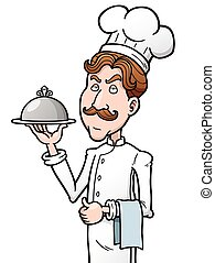 Chef - Vector illustration of Cartoon chef