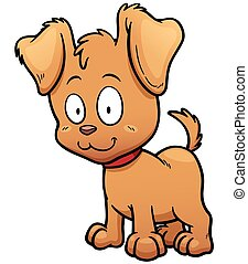 Dog - Vector illustration of Cartoon Dog