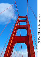 Golden Gate Bridge in San Francisco - CA - Art Deco...