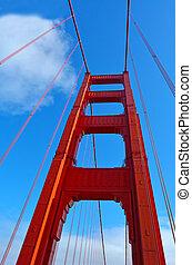 Golden Gate Bridge in San Francisco - CA - Art Deco...