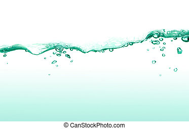 water surface - green water surface with bubble and wave