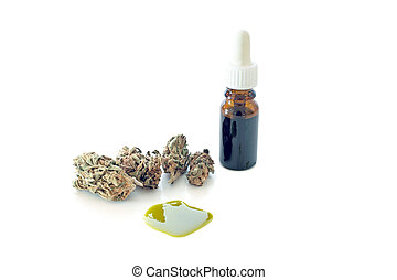 Medical Cannabis ( Marijuana ) oil ready for consumption