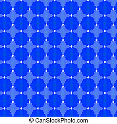 sky blue cosmos seamless pattern background
