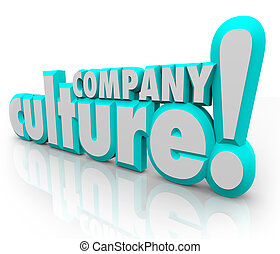 Company Culture 3d Words Team Organization Working Together