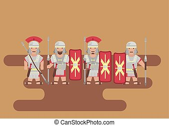 Roman legion soldier flat graphic - Vector Roman legion...