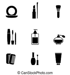 Cosmetics Icons Set.