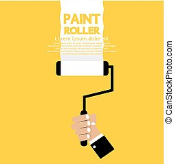 Paint Roller. - Paint Roller Vector Illustration.