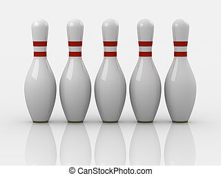 Bowling pin , This is a computer generated and 3d rendered...