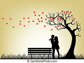 Dating Couple Silhouette