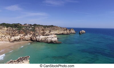 Aerial from natural rocks Portugal - Aerial from natural...