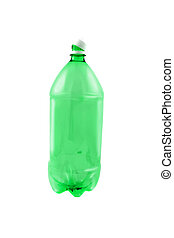 Empty pop bottle - Empty green plastic 2 liter pop bottle...