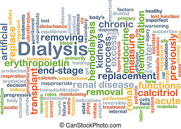 Dialysis background concept - Background concept wordcloud...