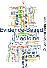 Evidence-based medicine EBM background concept - Background...
