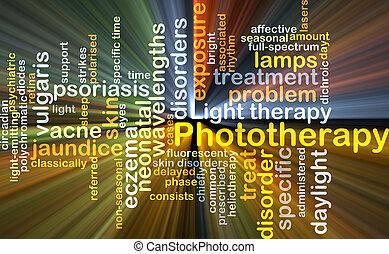 Phototherapy, Plano de fondo, concepto, encendido,