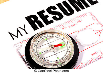 My Resume - Inscription My Resume and compass Idea of a...