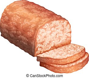 Meatloaf - Stick of meatloaf and two slices