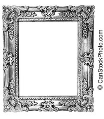 Retro Revival Old Silver Frame - Old Silver Picture Frame on...