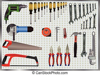 Hand Tools Set - colorfull