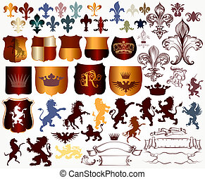 Vector set of luxury royal vintage elements for your...