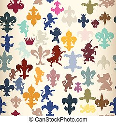 Seamless wallpaper pattern with her