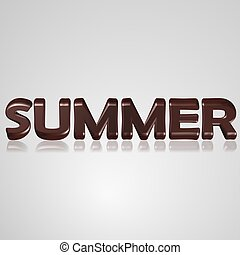 3D Text summer - 3d text for business and website design...