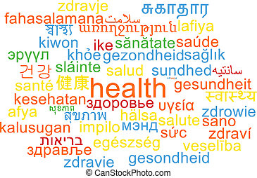 Health multilanguage wordcloud background concept -...
