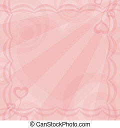 gentile background for valentines with rose heart...