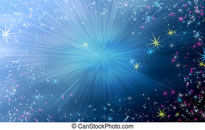 Magic star background - Magic background with sky gradient...