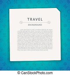 Colorful Travel Background with Copy Space. Seamless Pattern...