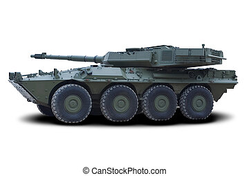 Light Assault Vehicle (LAV) - Green Military Light Assault...
