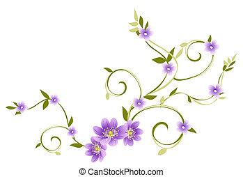 pourpre, fleur