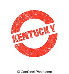 Rubber Ink Stamp Kentucky