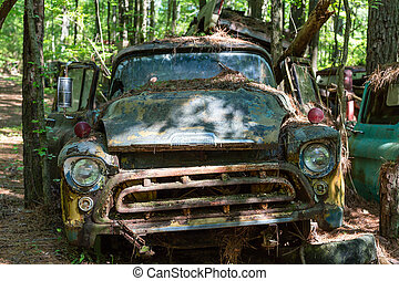 Old Rusted Out Chevy Pickup - DETROIT, MICHIGAN - May 11,...