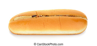 Bread with coffee cream isolated on the white background