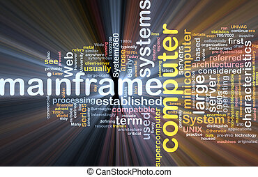 Mainframe word cloud box package - Software package box Word...