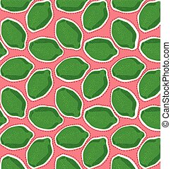 pattern of lime green on a pink background