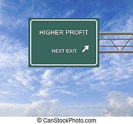 Road sign to  higher profit