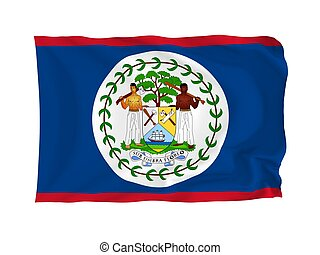 Flag of Belize - Belize. High resolution North American Flag...