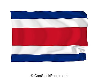 Flag of Costa Rica - Costa Rica. High resolution North...