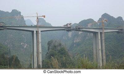 high-speed rail under construction
