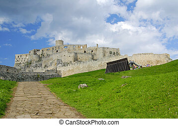 Spissky castle - Ancient Slovak castle Spissky hrad and a...