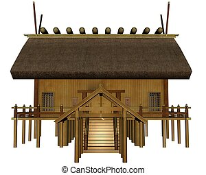 Imperial shrine - 3D rendered imperial shrine on white...