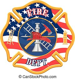 Fire Department Cross is an illustration of a fire...
