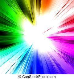 abstratos, arco íris, raio,